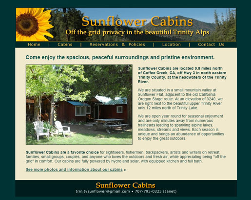 sunflower-cabins